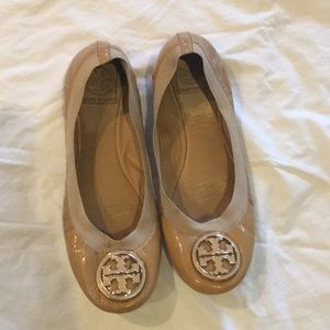 Tory Burch Patent Nude Flats
